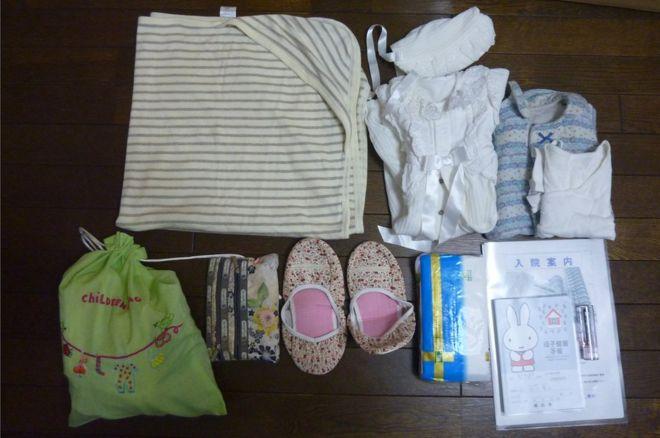 Takako Ishikawa's maternity bag