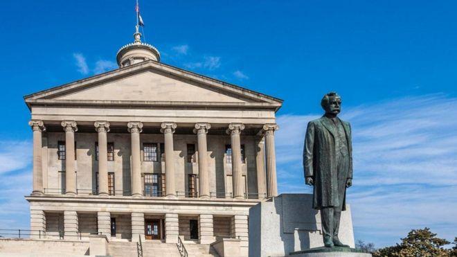 Edificio del Capitolio de Tennessee, Estados Unidos, 1845-59
