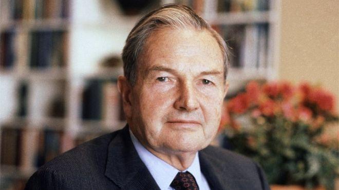 David Rockefeller is seen in this photo.