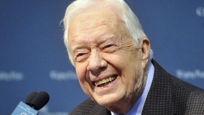 Jimmy Carter at the Carter Center in Atlanta, Georgia. August 20, 2015