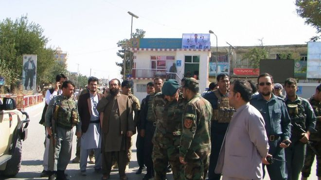Kunduz governor Asadullah Amarkhil in the centre of Kunduz city, 4 October 2016