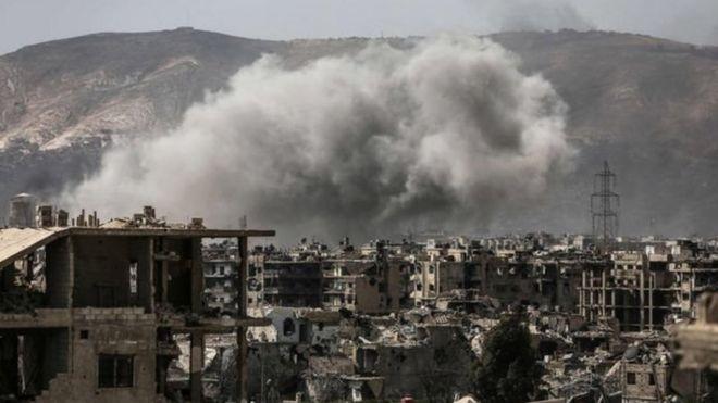 Şam'da bombardıman