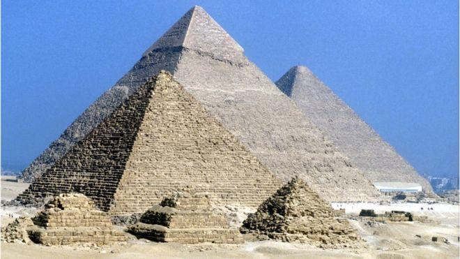 The Pyramids of Giza, Egypt.