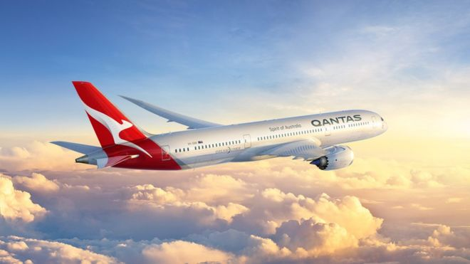 Computer-generated image of Qantas 787-9
