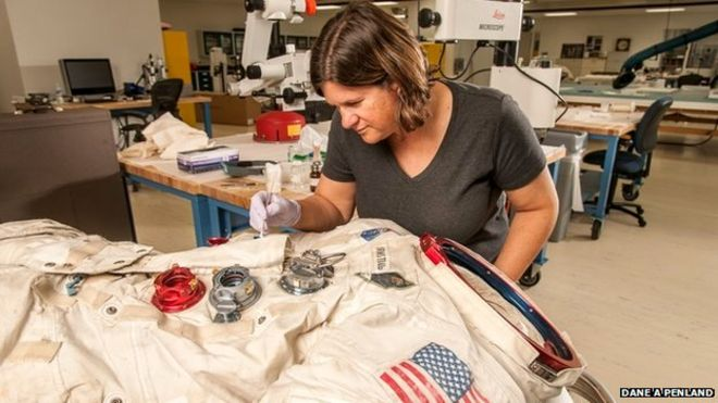 Neil Armstrong's spacesuit restored by Cardiff graduate