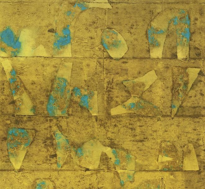 Vasudeo S Gaitonde's untitled painting from 1995