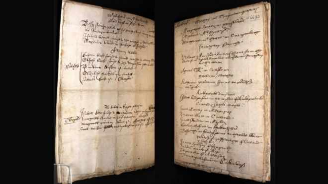 Pages from The Names of Witches
