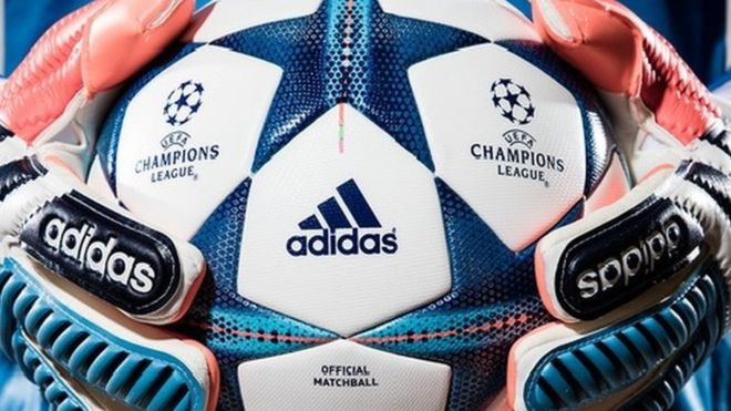Adidas logo on football