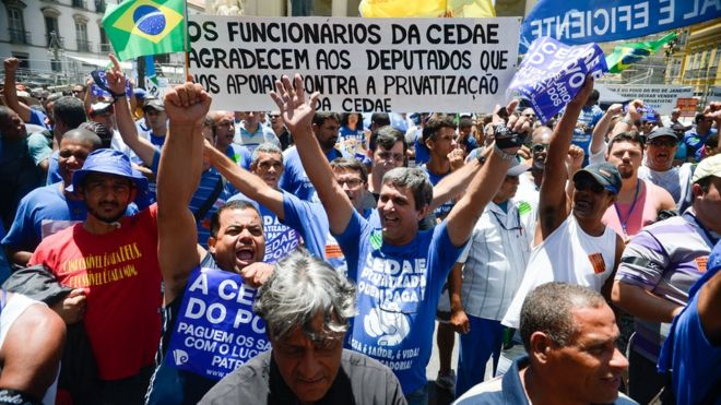 Protesto contra privatização da Cedae