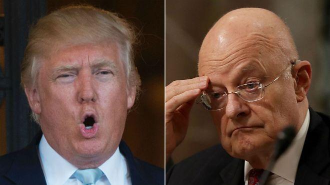 Ông Donald Trump không tin phát hiện của các cơ quan tình báo dưới quyền Tướng James Clapper