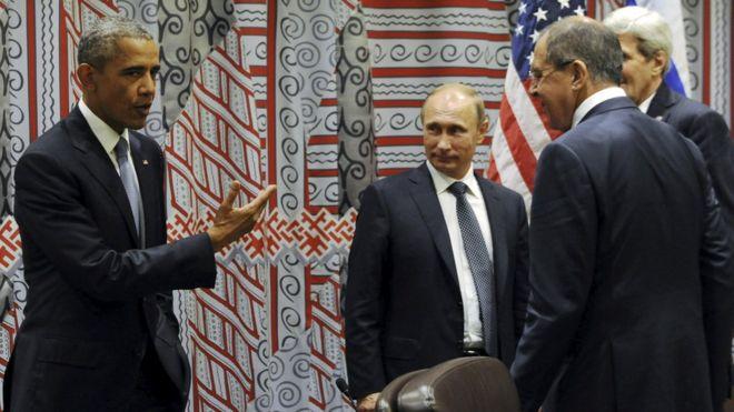 Obama with Putin, Lavrov, Kerry