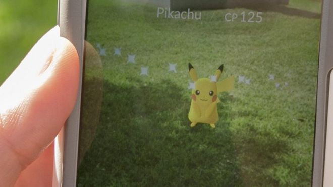Detail of Pokemon Go game