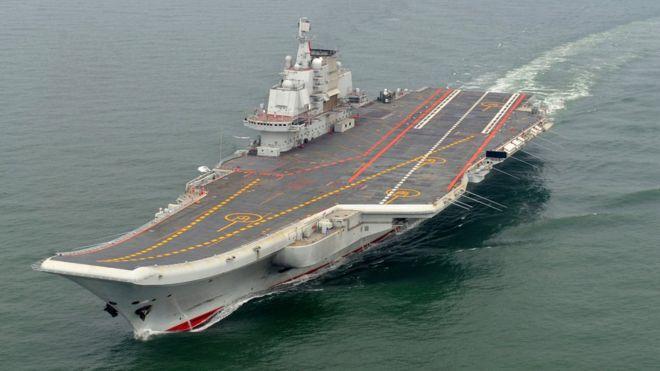 南海敏感时期 中国航母编队出远海训练