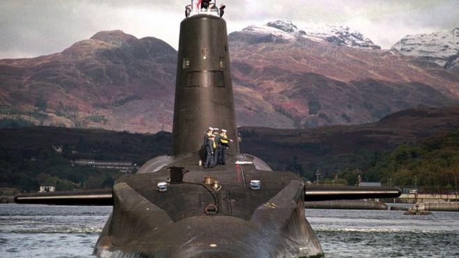 Vanguard nuclear submarine