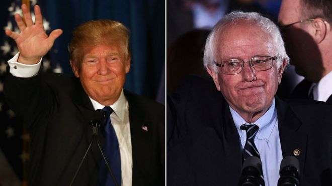 Trump and Sanders win New Hampshire
