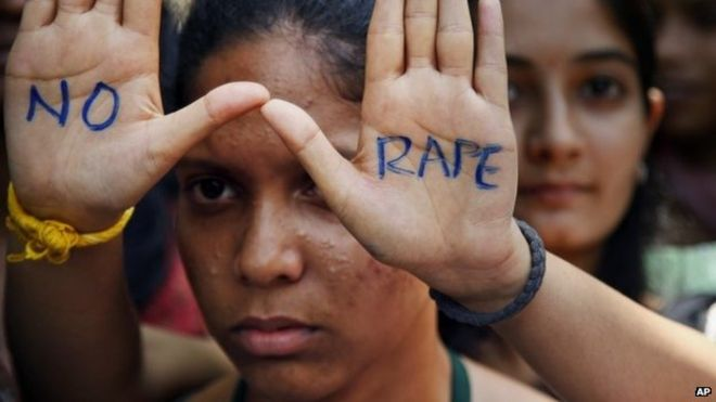 Anti-rape protester in India
