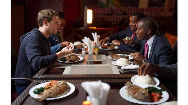Mark Zuckerberg akila Ugali na samaki nchini Kenya