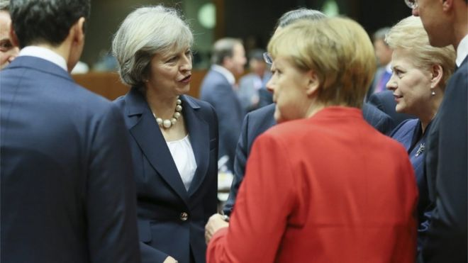 Are the PM and German chancellor speaking at cross-purposes?