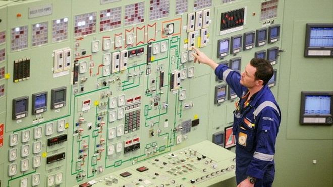 Inside Hunterston B nuclear power station