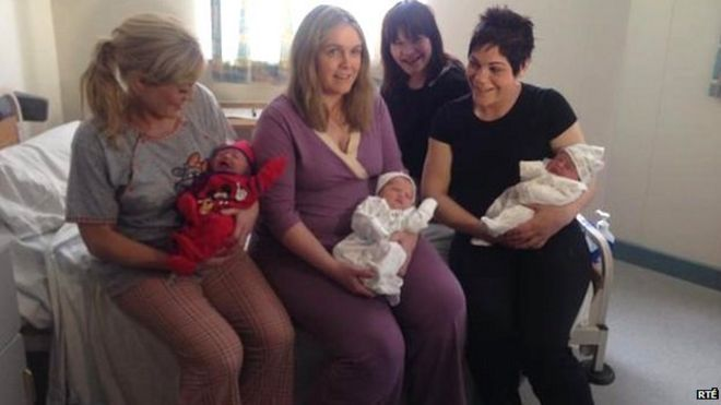 Three sisters give birth on same day in Irish hospital