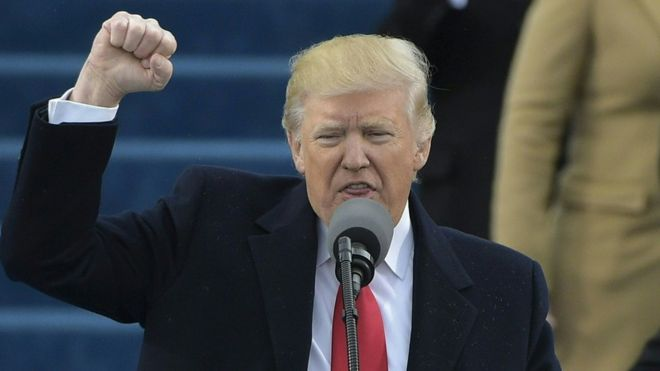 Trump discursa em sua posse