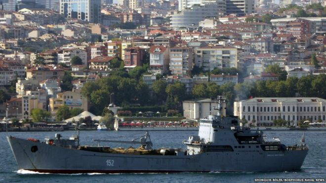 Nikolay Filchenkov seen passing through Bosphorus