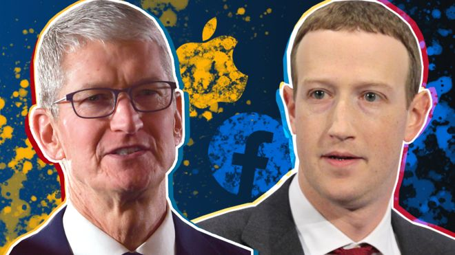 Apple's Tim Cook and Facebook's Mark Zuckerberg