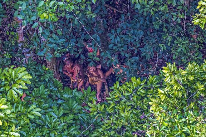 摄影师抓拍巴西从未接触外界的土着部落