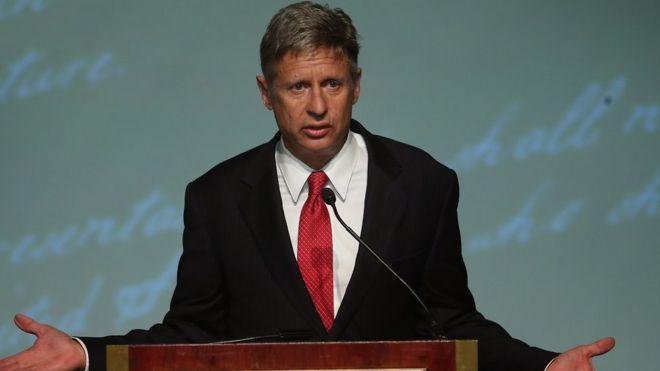 Gary Johnson at the 2012 debate