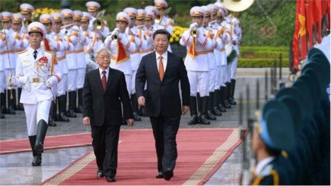 Nguyễn Phú Trọng và Tập Cận Bình