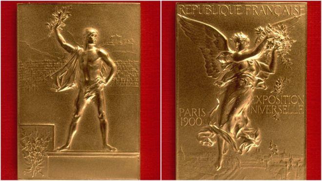 Deux côtés de la médaille olympique de 1900