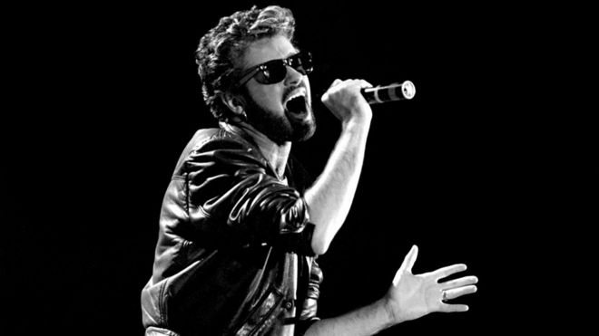 George Michael at Live Aid in 1985