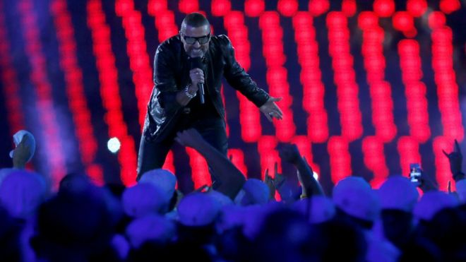 Джордж Майкл на церемонии закрытия Олимпийских игр в Лондоне