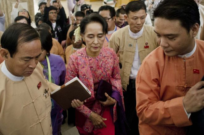 Myanmar opens new parliament session after military rule - BBC News