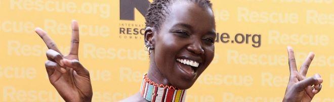 South Sudanese model Nykhor Paul