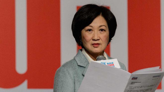 叶刘淑仪2016年12月15日召开记者会宣布投入特首选举。