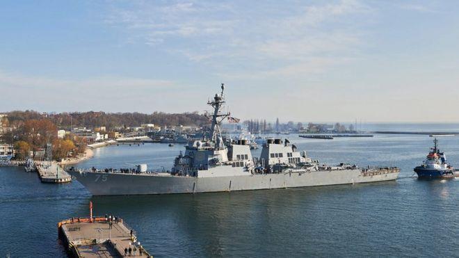 USS Donald Cook in Gdynia, Poland, 8 Apr 16