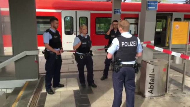 Police at Grafing station
