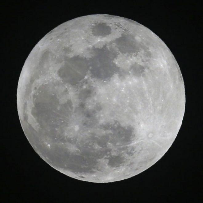 Luna de Nieve vista desde Lawrence, Kansas