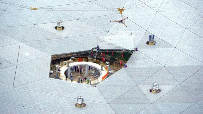 China fits final piece on world's largest radio telescope