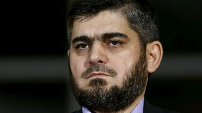 HNC chief negotiator Mohammed Alloush. Photo: April 2016