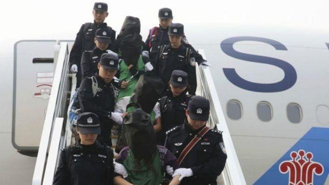 电信诈骗:台湾抗议越南将台籍嫌犯遣送中国