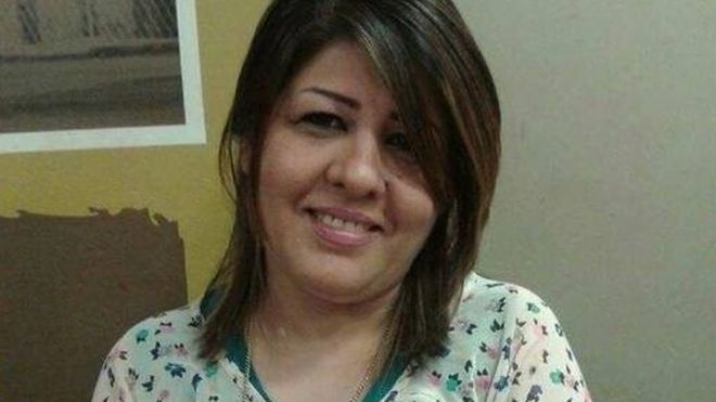 Photo of Afrah Shawqi al-Qaisi published by Baghdad-based Journalistic Freedoms Observatory