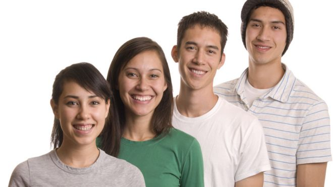 Four young adults