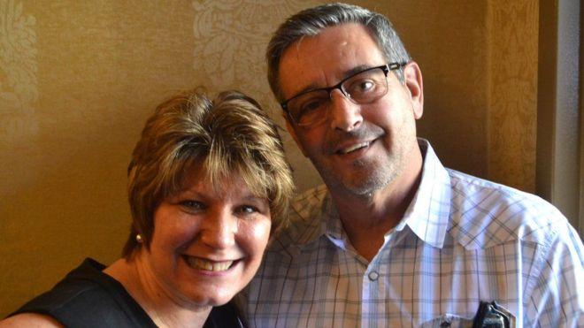 Kathy Murray e o marido /arquivo pessoal
