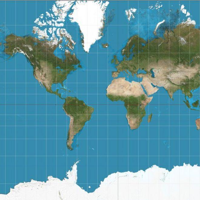Mapa tradicional de Mercator