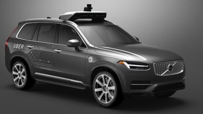 Carro da Volvo modificado para o Uber