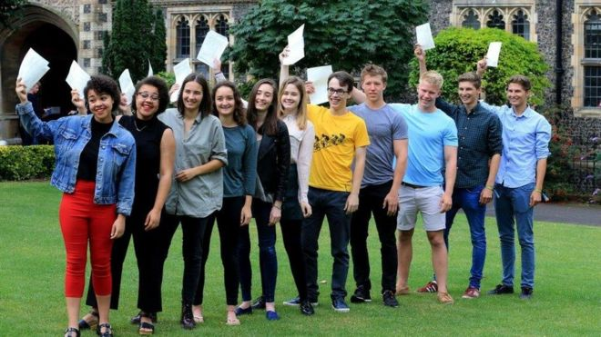 Brighton College A-level students