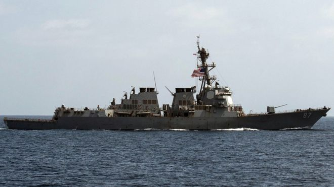 A file image released by the US Navy shows USS Mason (DDG 87) at sea on 10 Sept 2016