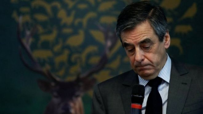 French presidential candidate Francois Fillon charged with embezzlement